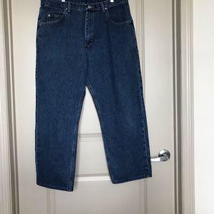 Men's Wrangler medium was jeans size 36 waist